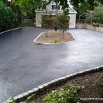 Asphalt Driveway with Belgian Block Trim - Rockville MD